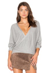 Milly Front To Back Sweater Gray
