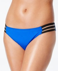 Kenneth Cole Strappy Tab Bikini Bottom Women's Swimsuit Cobalt