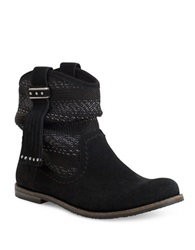 The Sak Jezebelle Suede And Knit Boots Black