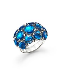 Ippolita Sterling Silver Rock Candy Wonderland Cluster Dome Ring In Frost Silver Blue