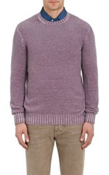 Drumohr Men's Cashmere Crewneck Sweater Purple