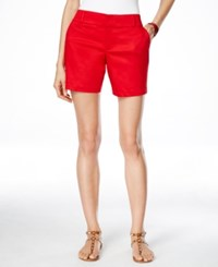 Inc International Concepts Curvy Fit Shorts Only At Macy's Real Red