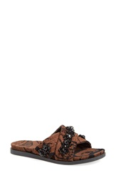 Simone Rocha Jeweled Slip On Sandal Women Black Brown