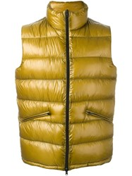 Herno Padded Gilet Yellow Orange