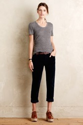 Anthropologie Mother Dropout Cords Navy 24 Pants
