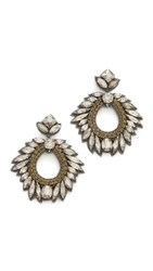 Deepa Gurnani By Chantel Earrings Gunmetal