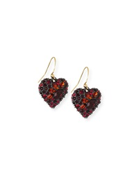 Encrusted Black Cherry Heart Earrings Alexis Bittar