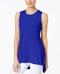Alfani Sleeveless High Low Top Only At Macy's Modern Blue