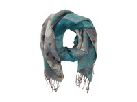 Roxy Warm Heart Woven Jacquard Scarf Charcoal Heather Scarves Gray