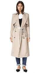Alexander Wang Blouson Back Trench Coat Cement