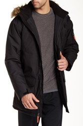 Free Country Marshall Poly Canvas Faux Fur Jacket Black