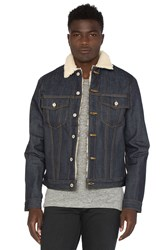 Naked And Famous Sherpa Jacket Blue