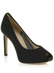 Daniel Arlington Mesh Peep Toe Court Shoes Black