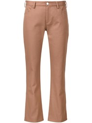 Nomia Straight Cropped Trousers Nude And Neutrals