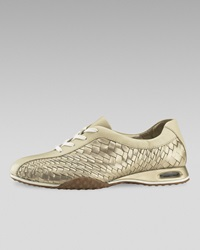 Cole Haan Air Bria Geni Woven Oxford Gold Sandshell