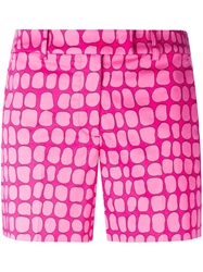 Moschino Cheap And Chic Pebble Print Shorts Pink And Purple