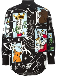 Jc De Castelbajac Vintage Cartoon Print Long Sleeve Shirt Black