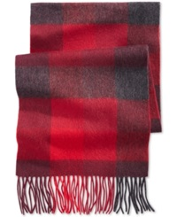 Club Room Color Blocked Cashmere Scarf Only At Macy's Red
