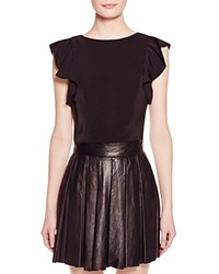 Kendall And Kylie Kendall Kylie Flutter Sleeve Crop Top Black