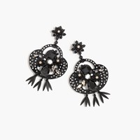 J.Crew Midnight Crystal Chandelier Earrings Black