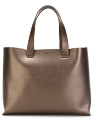 Giorgio Armani Pebbled Tote Bag Brown