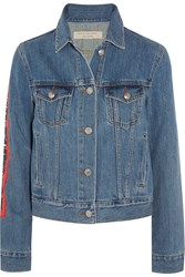 Marc By Marc Jacobs Icon Printed Denim Jacket Blue