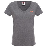 The North Face Simple Dome V Neck T Shirt Grey