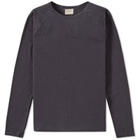Nudie Jeans Nudie Long Sleeve Otto Raw Tee Blue