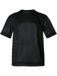 Matthew Miller Sheer Ribbed T Shirt Black
