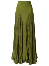 Andrea Bogosian Long Knit Skirt Green