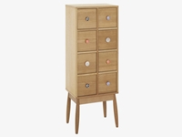 Fleur Natural Wood 8 Drawer Cabinet Habitatuk