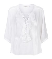 Denim And Supply Ralph Lauren Ruffled Cotton Top Female White