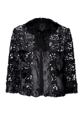 Anna Sui Sequined Faux Fur Jacket