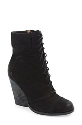 Max Studio Women's Maxstudio 'Remix' Lace Up Wedge Bootie Black