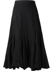 Chalayan Split Flared Skirt Black