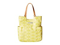 Petunia Pickle Bottom Glazed Tailored Tote Electric Citrus Tote Handbags Yellow
