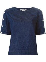 Marc By Marc Jacobs Shortsleeved Denim Top Blue