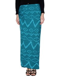 Baja East Skirts Long Skirts Women Sky Blue