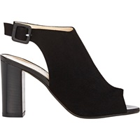 Peep Toe Ankle Strap Sandals Black