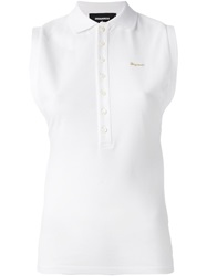 Dsquared2 Sleeveless Polo Shirt White