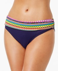 Anne Cole Foldover Waist Bikini Bottom Women's Swimsuit