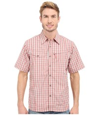 Mountain Khakis Trail Creek Short Sleeve Shirt Summer Red Plaid Men's Clothing Pink