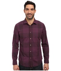 Calvin Klein Jeans Mulberry Wave Plaid Mulberry Port Men's Clothing Burgundy