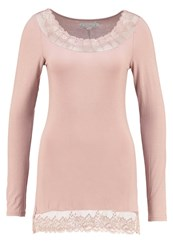 Cream Florence Long Sleeved Top Rose Powder