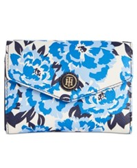 Tommy Hilfiger Th Enamel Serif Logo Printed Wallet Navy Whilte