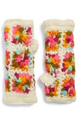 Women's Nirvanna Designs Crochet Handwarmers White White Multi