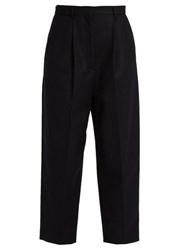 Acne Studios Milli Cropped Trousers Navy