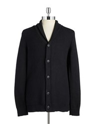 7 Diamonds Textured Button Front Cardigan Black