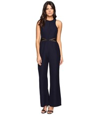 Adelyn Rae Wide Leg Jumpsuit Navy Black Women's Jumpsuit And Rompers One Piece Blue