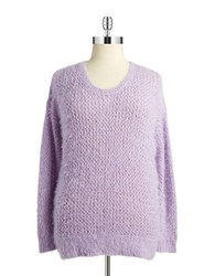 Dknyc Plus Open Knit Sweater Lilac Hazel
